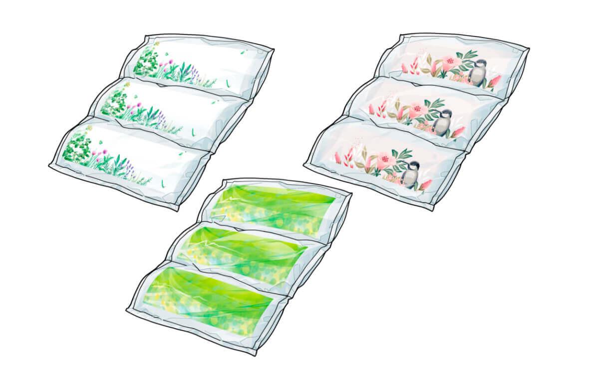 「フレグランス エアークッション」の香り3種類
